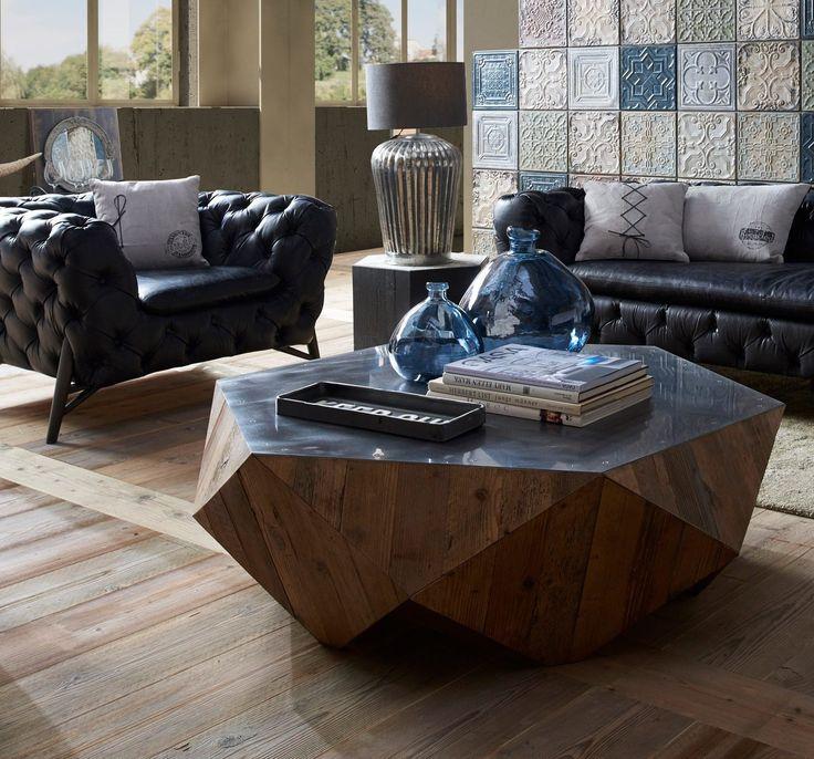 Esta no es la típica mesa de centro. #decoraciónvintageeindustrial