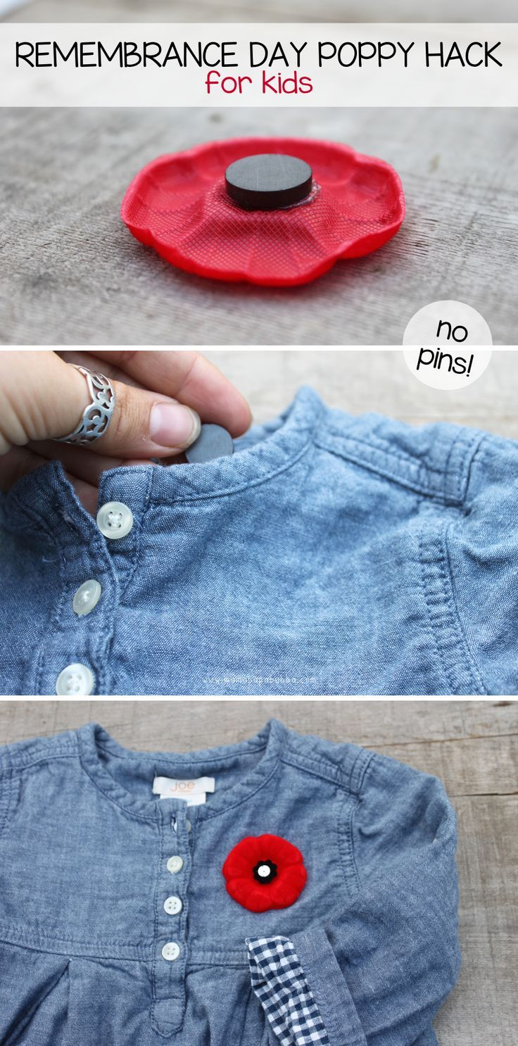 A quick and easy Remembrance Day poppy hack for kids... No pins involved! | Mama.Papa.Bubba.
