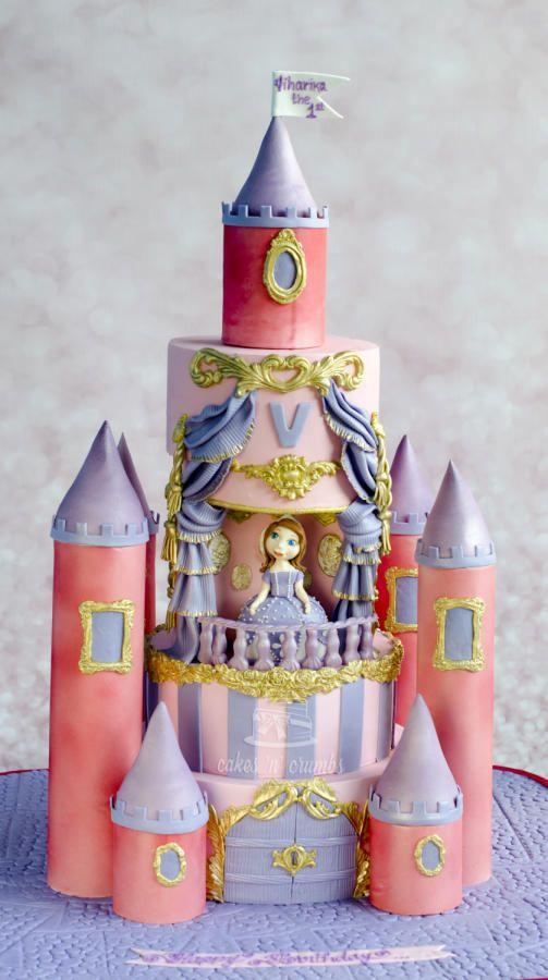 Sofia the princess Castle cake !!