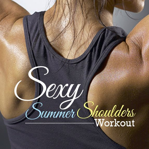 Tank tops, sun dresses, and swimsuits will soon be in season. Summer is just around the corner and nothing is sexier than defined shoulders! This is the one workout to make it happen. #sexyshoulders #shoulderworkouts