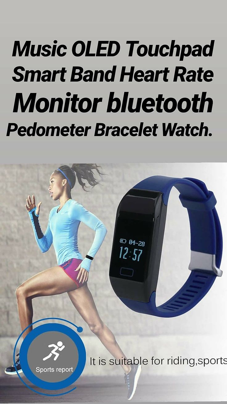 Music OLED Touchpad Smart Band Heart Rate Monitor b luetooth Pedometer Bracelet Watch $23.67 | Fitness & Health. | Heart rate monitor, Heart rate, Bracelet watch