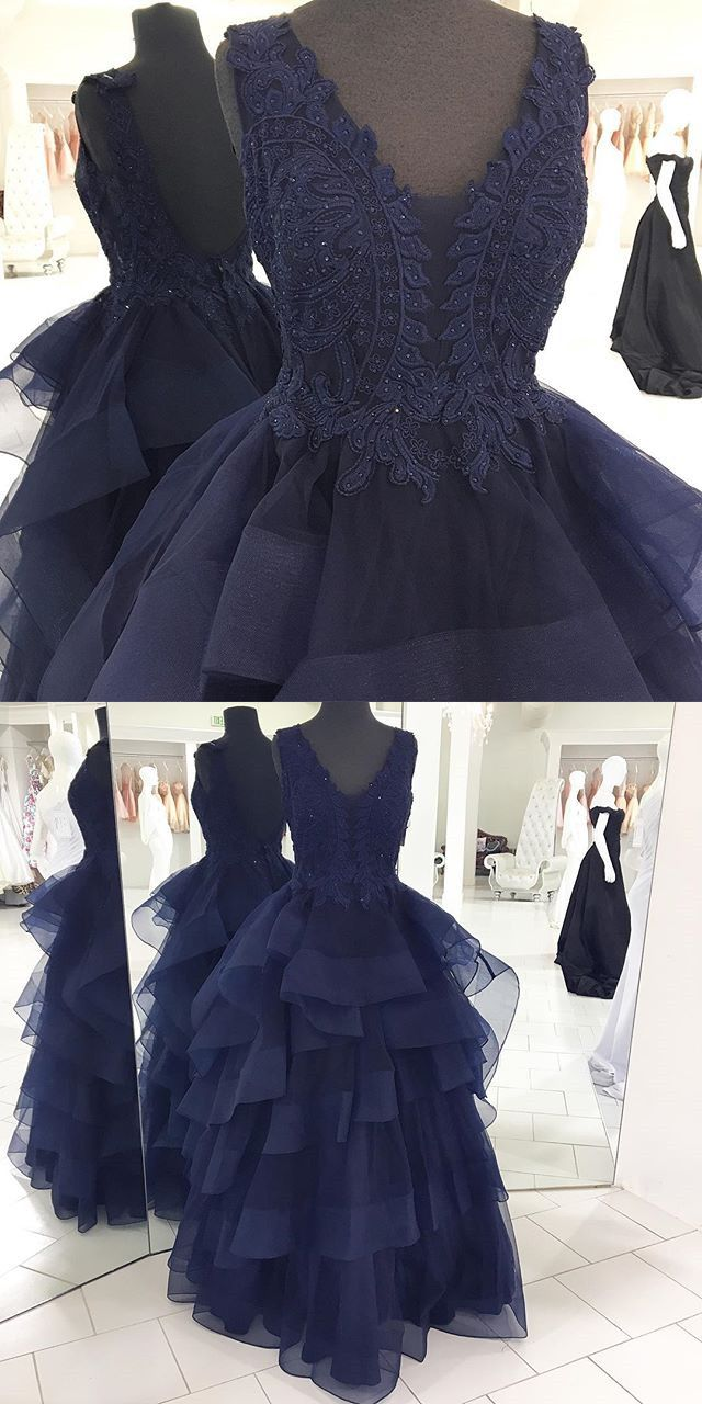 navy blue long prom dress, 2017 long prom dress, formal evening dress