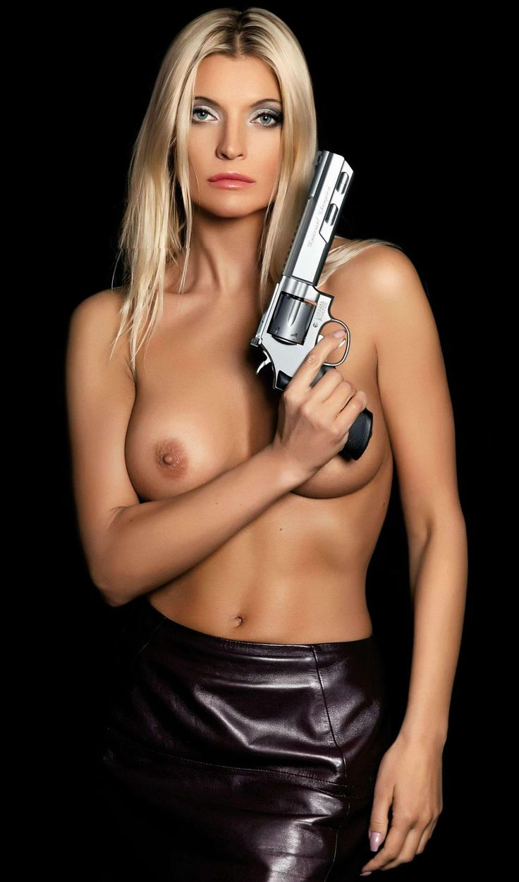 girls naked with guns
