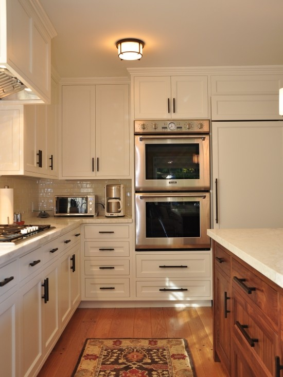 Double Oven   Kitchen Has Double Ovens   Contemporary   Kitchen   San  Francisco   Camber Construction. Find This Pin And More On Cabinet Hardware  Placement ... Photo Gallery