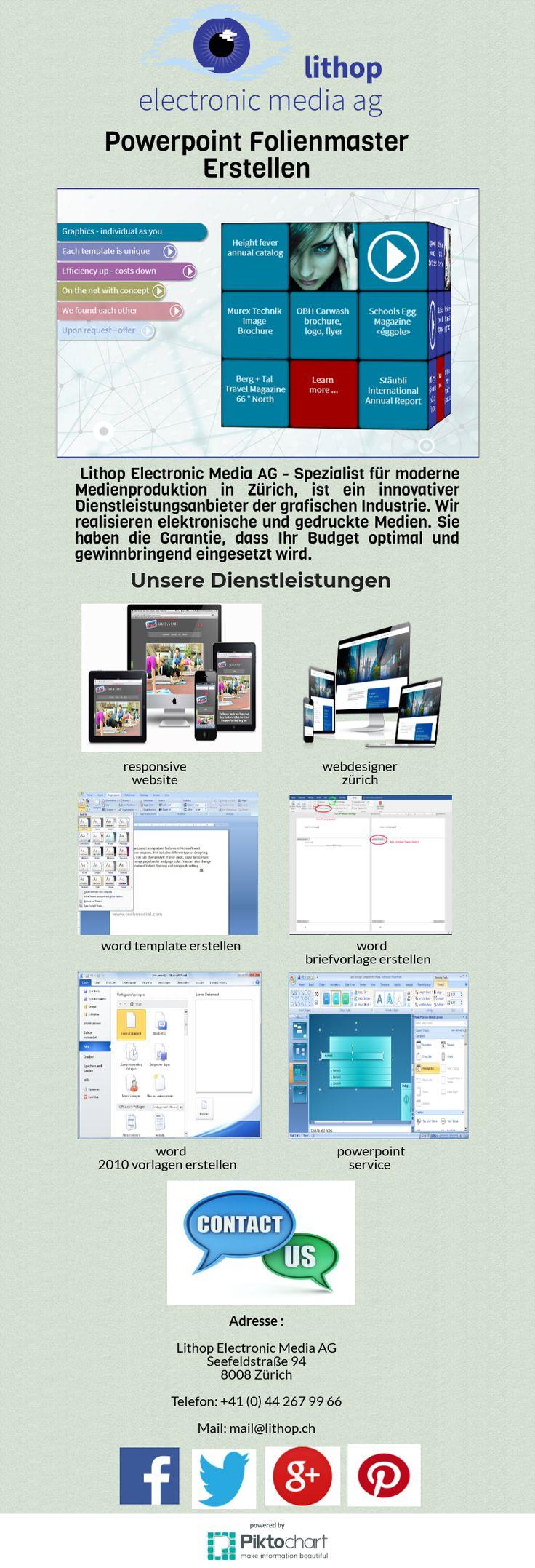 Die Lithop Electronic Media AG - Spezialist für moderne Medienproduktion in Zürich - ist ein innovativer Dienstleister der grafischen Industrie. Wir bieten Grafikdesign, Layout & Druckmedien, Konzept & Webdesign, Microsoft Office Vorlagen, Online Marketing, SEO und SEA, Redaktionssystem, Markenmanagement zu wettbewerbsfähigen Preisen. Für weitere Details mailen Sie uns mail@lithop.ch.