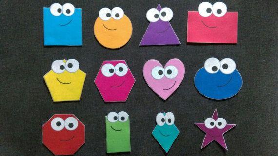 shapes Felt Set// Flannel Board // Shapes // Learning // Preschool // Pre K //