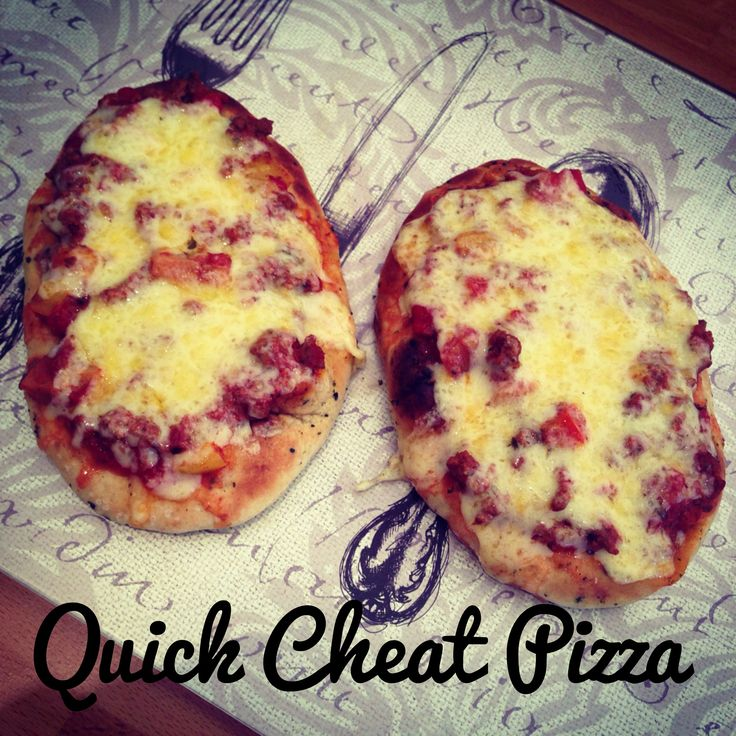 Quick or Cheat Pizza thats so good! #recipe. http://ashliesugarrushed.blogspot.co.uk/2014/04/quickcheat-pizza-cook-with-kids.html