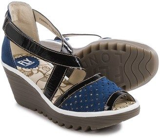 Fly London Ynes Wedge Sandals - Leather (For Women) #wedge