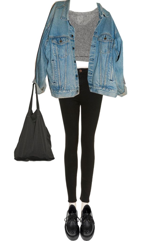 17 Best images about oversized denim jacket outfits on ...