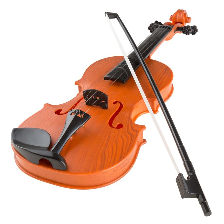 Hey! Play! Hey! Play! Musical Toy Violin with Bow Battery-operated