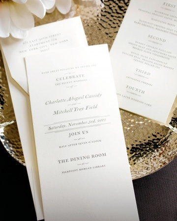 Vera Wang Fine Papers - Formal Invitation