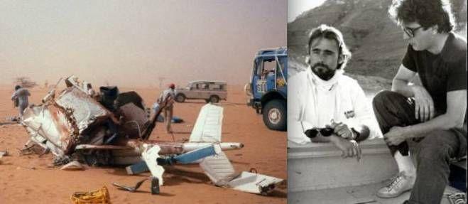 14 janvier 1986 ♦  VIDÉO. À la demande de Thierry Sabine, le photographe cède sa place au chanteur Daniel Balavoine à bord de l'hélico qui s'écrase sur une dune du Paris-Dakar.