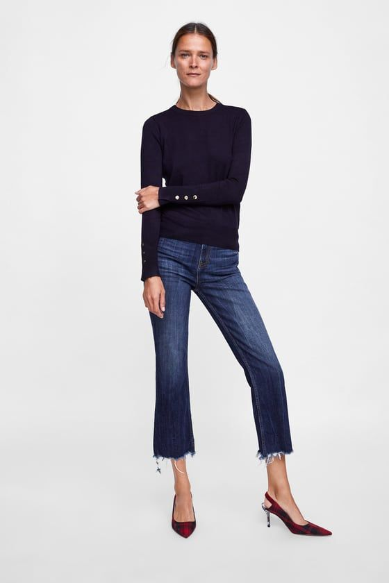 d1b6b831 BASIC SWEATER WITH BUTTONS - Available in more colours Zara United Kingdom,  Zara United States