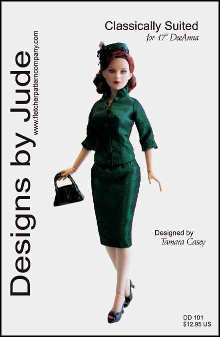 "Suit Doll Clothes Sewing Pattern 17"" Athletic Body DeDe & DeeAnna Denton Tonner #DesignsbyJude"