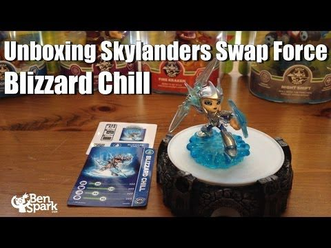 I Unbox The Series 2 Skylanders Swap Force Figure Blizzard Chill Is A Skylander From