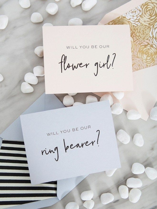 Will you be our flowergirl personalised bridal proposal request card with green foliage design and a Kraft envelope