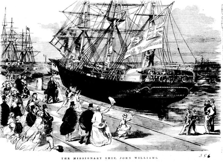 "The Arrival of the Missionary Ship ""John Williams"" at Hobson's Bay on 19 August 1866"