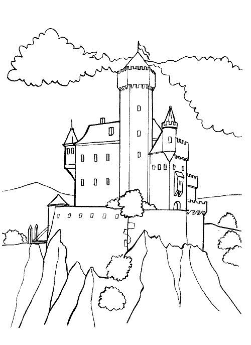 free inner castle coloring pages - photo#37