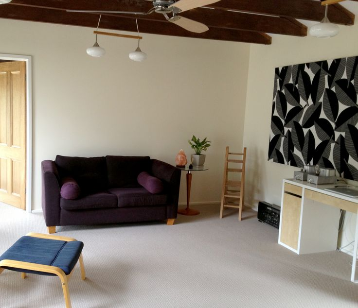A well-proportioned and accoustically excellent room which featured Oregon Pine beams and wool carpets. Jobs included: double-glazing installation, plasterboard lining, painting, wall construction, fan and lighting installation, door installation.