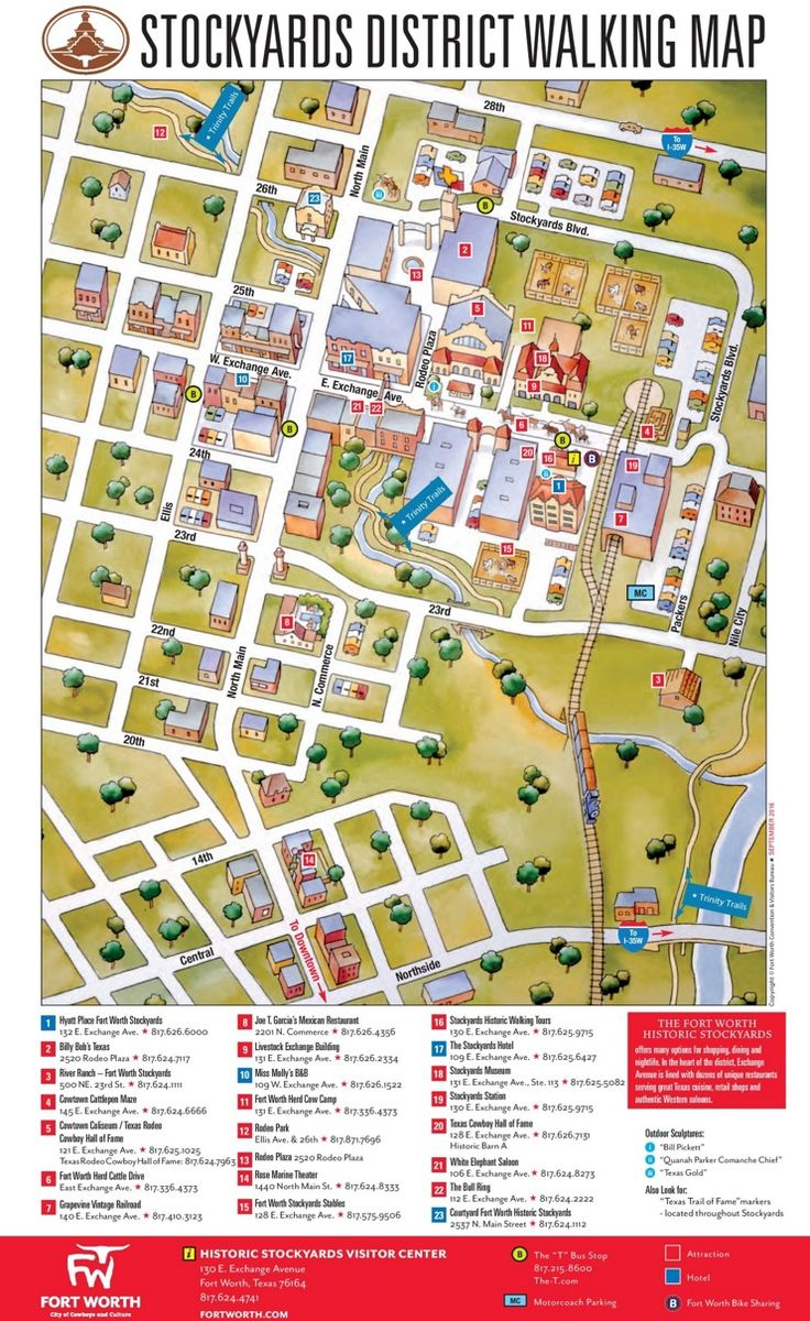 Fort Worth Stockyards District map