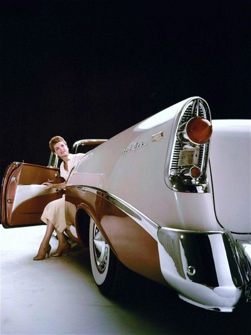 1956 Chevrolet Bel-Air - I think the gas tank is behind that Taillight..