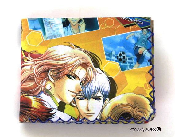 Laminated Upcycled Washable wallet Anime paper wallet