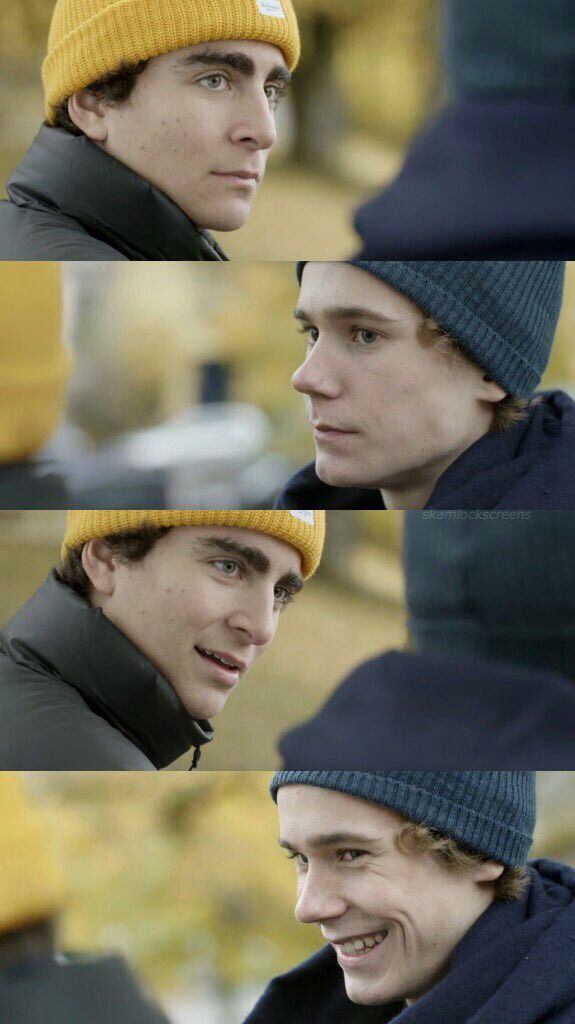 Jonas and Isak / Skam lockscreen. Credit to @skamlockscreens on twitter