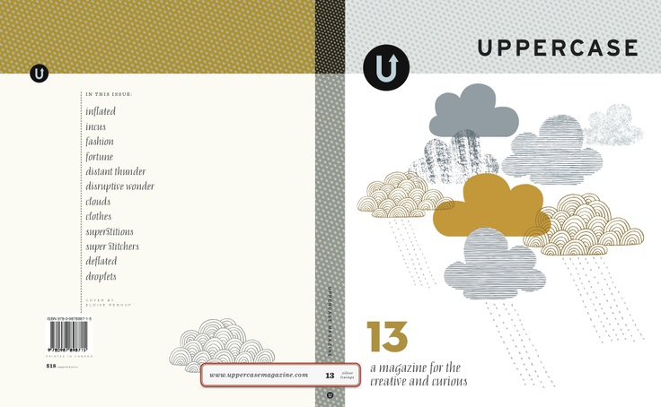 """Nominated in Art Direction for an Entire Issue. """" Issue 13"""" by Janine Vangool published by #Uppercase."""