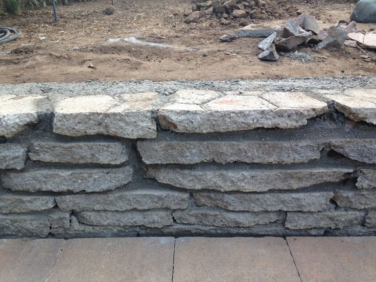 1000 images about urbanite recycled broken concrete on for Recycled wall