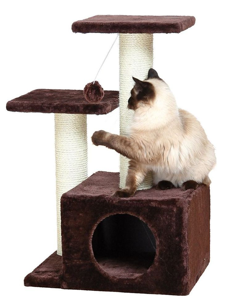 Cat Tree Pet Play House Tower Condo Furniture Scratch Post Kitty Play Toy #TRIXIE