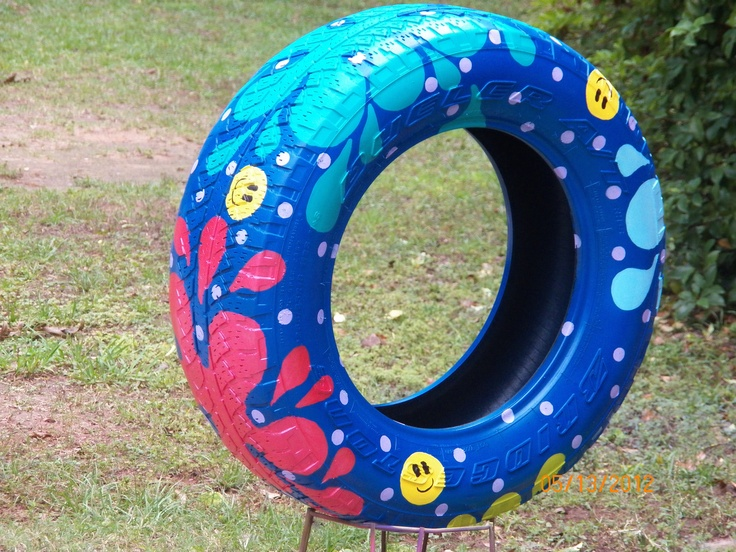 17 best ideas about painted tires on pinterest tire art for Old tire art