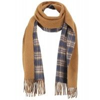 Johnstons Cashmere Sport Check Scarf - Blue and Brown - Accessories - Accessories | Country Attire