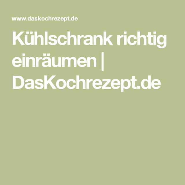 Kühlschrank richtig einräumen | DasKochrezept.de