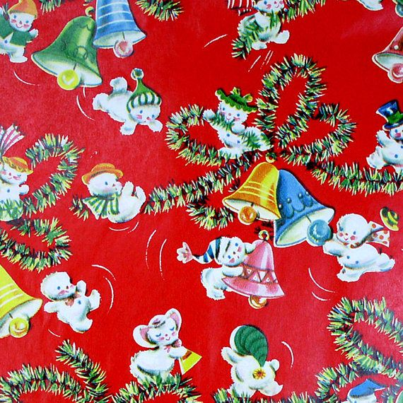 70 best vintage wrapping paper images on pinterest for Best christmas wrapping paper
