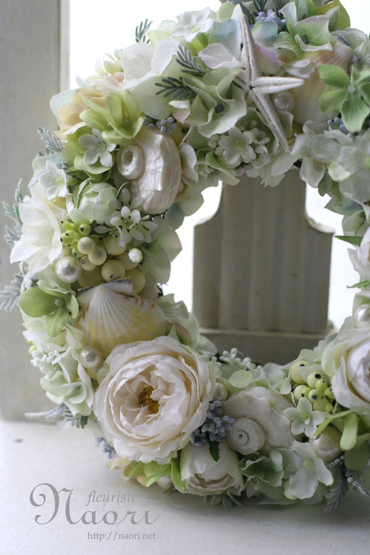 Shell and Pearl Wreath