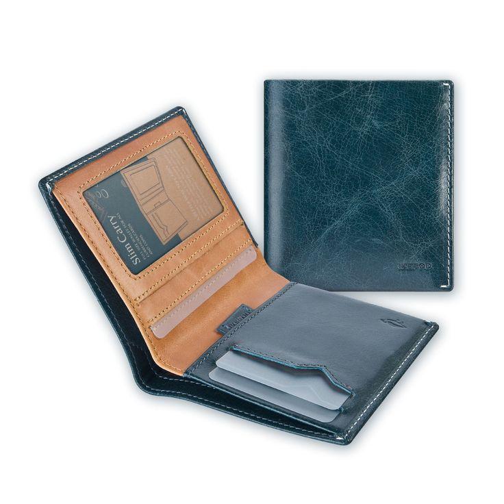 01 Slim Carry Wallet _ Blue Steel