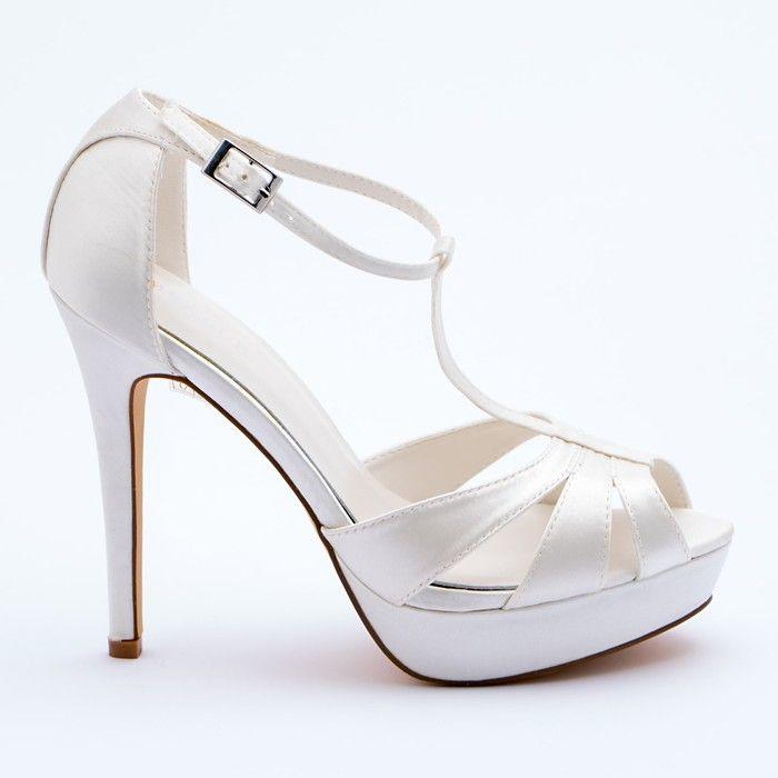 Scarpe Sposa Raso Bianco.Sandalo Sposa In Raso Bianco Seta Particolare Scarpe Da