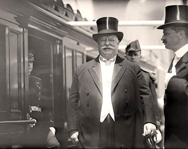 President Taft, Photographed At the German Squadron Visit to Him in 1912