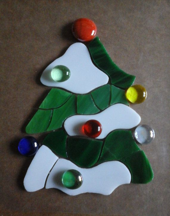 Precut stained glass. Christmas tree with glass by Crazy4Mosaics
