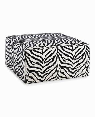 Wild Zebra #Cocktail #Ottoman #furniture #macys BUY NOW!