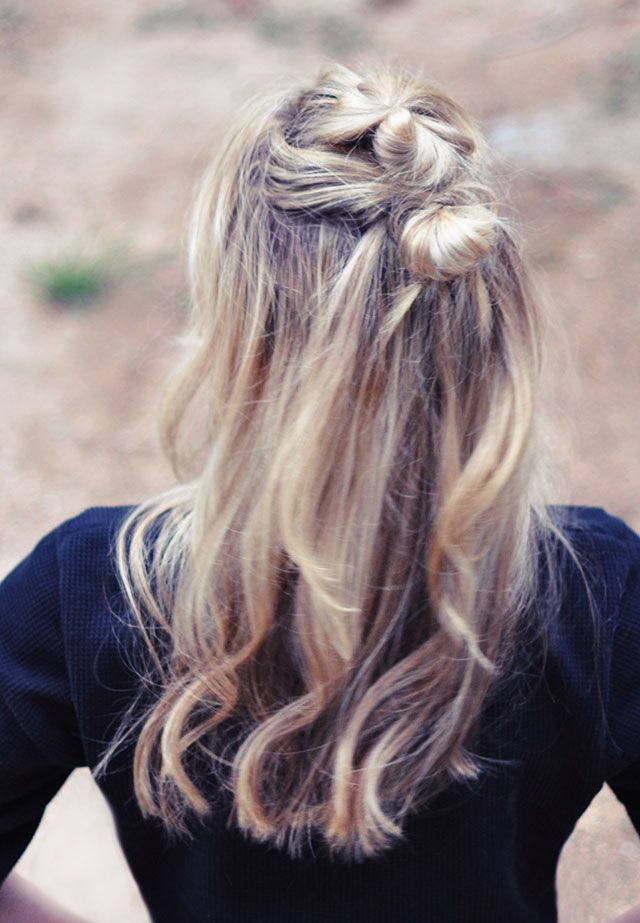 half up hair knots tutorial
