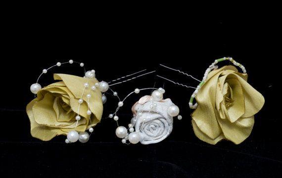 Flower Hair Pins - SVHP102, SVHP103 & SVHP104