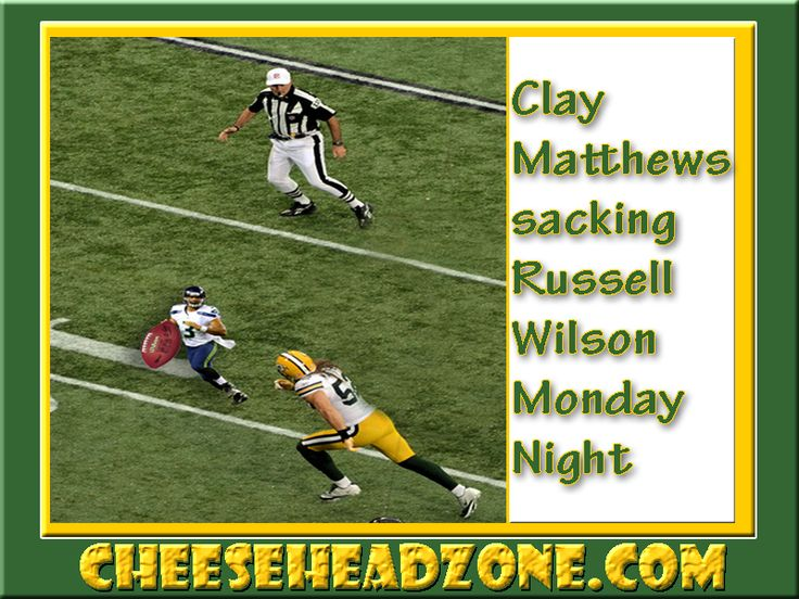 Clay Matthews sacking 'lil Russell Wilson Monday night