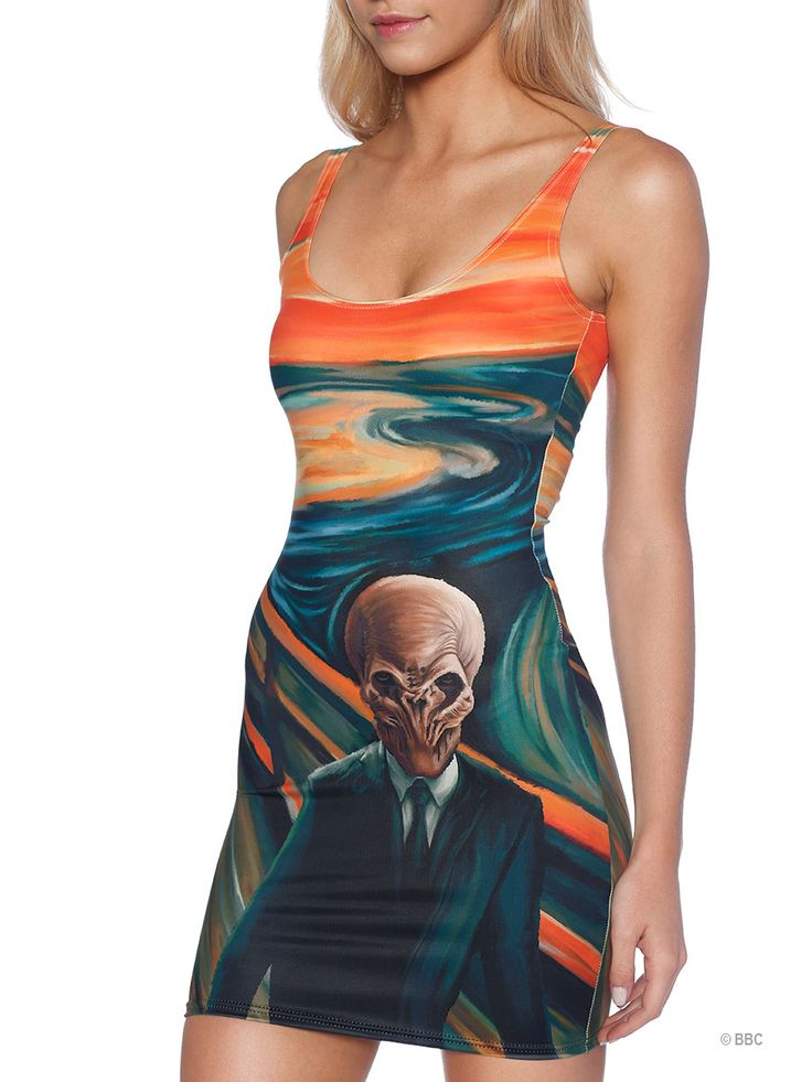 The Silence Scream Dress (WW ONLY $95AUD) by Black Milk Clothing