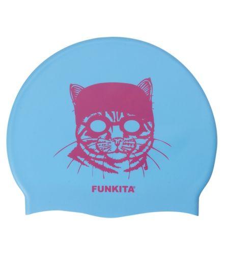 Funkita Cat and Goggles Silicone Swim Cap at SwimOutlet.com