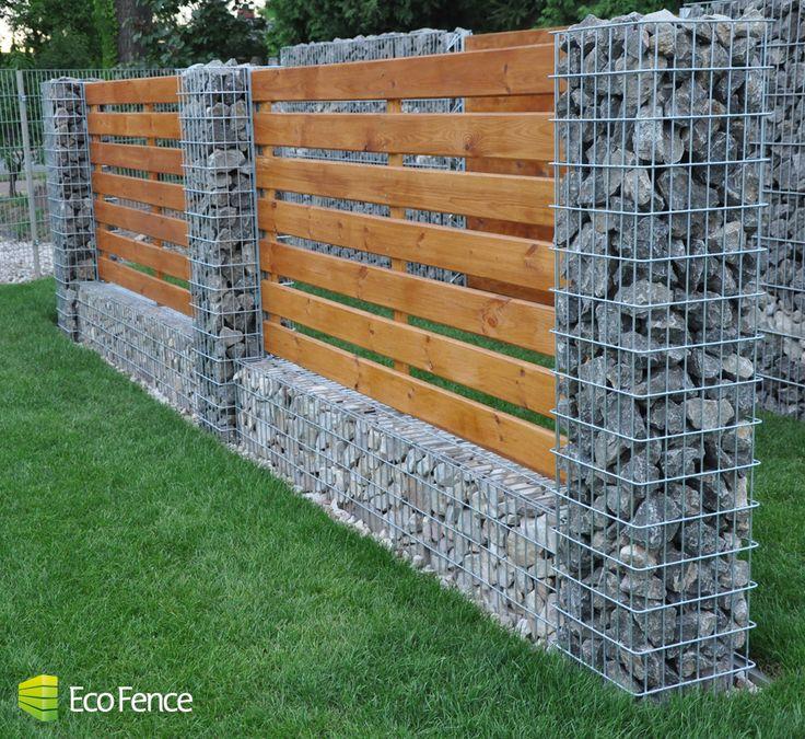 Nowoczesne ogrodzenia z kamienia | gabiony