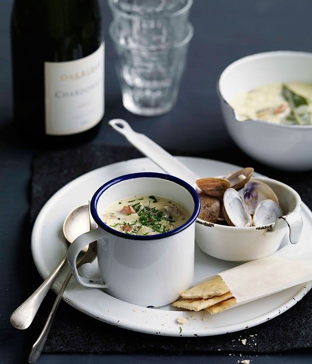 New England-style clam chowder - Gourmet Traveller