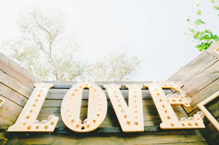 #love, #marquee-lights  Photography: Onelove Photography - onelove-photo.com  Read More: http://www.stylemepretty.com/2014/10/29/vintage-chic-winery-wedding-with-pops-of-purple/