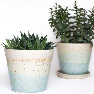 Handmade Speckled Ceramic Planter - 30th birthday gifts