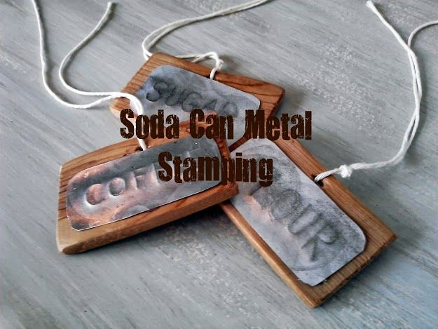 STamped soda cans...no fancy tools and practically free oh so many possibilities!